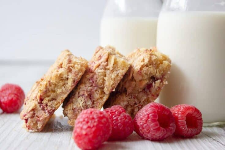 Apple & Raspberry Breakfast Oat Slice