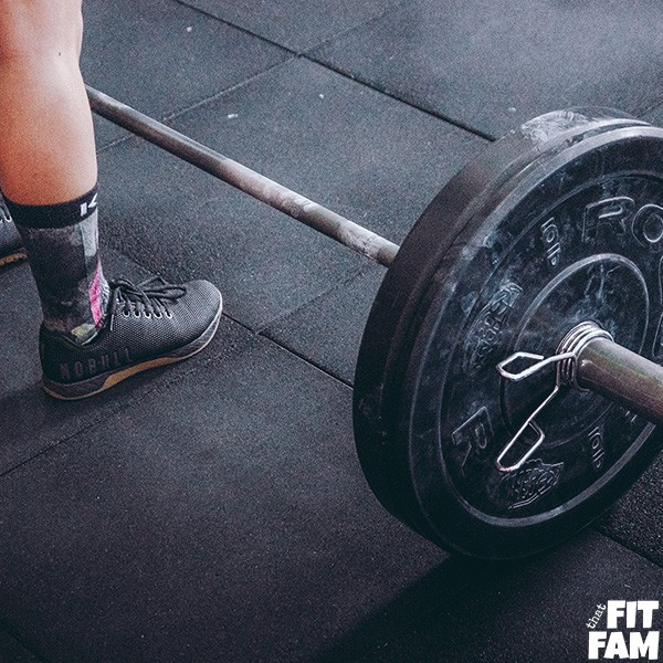 weightlifting with barbells