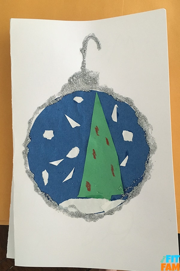 snow globe ornament card