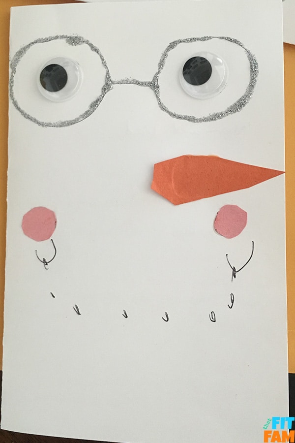 grandpa snowman card
