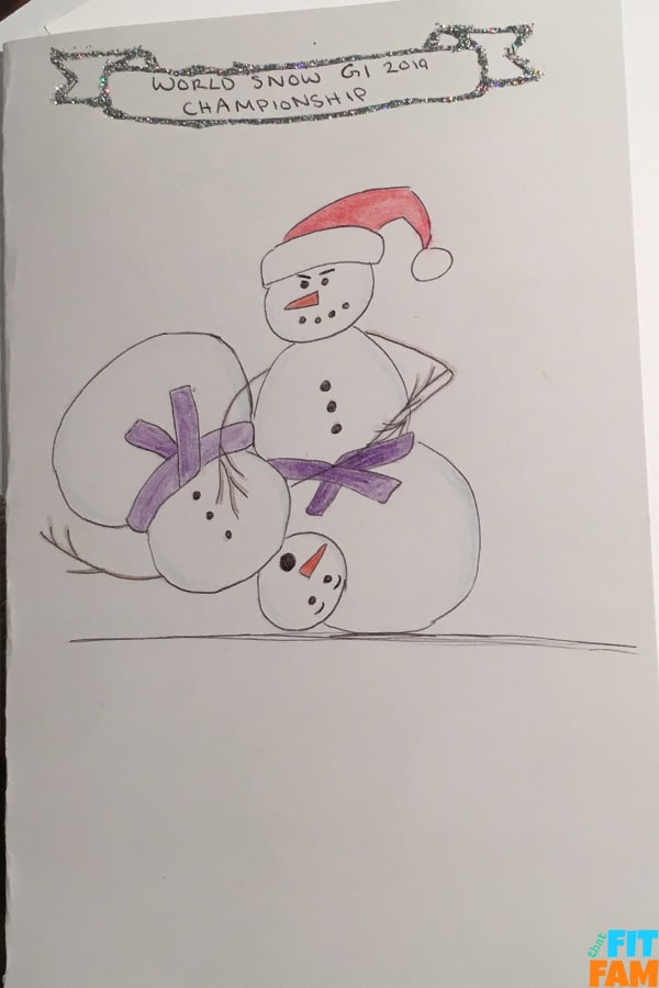jiu jitsu snowmen rolling