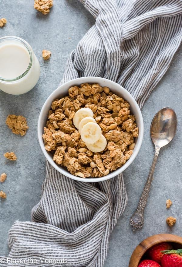 Perfect Peanut Butter Granola