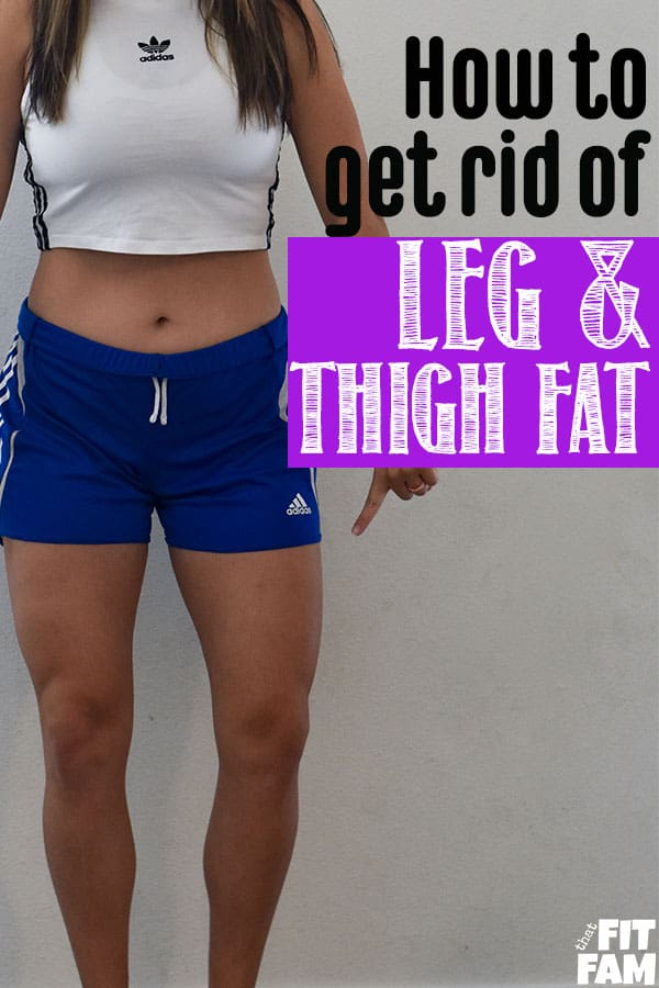 Lex from That Fit Fam demonstrating how to lose fat from thighs and legs