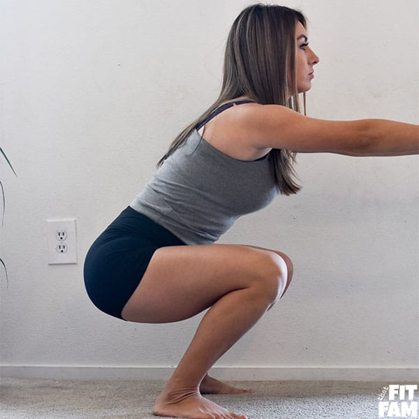 squat form with no weights