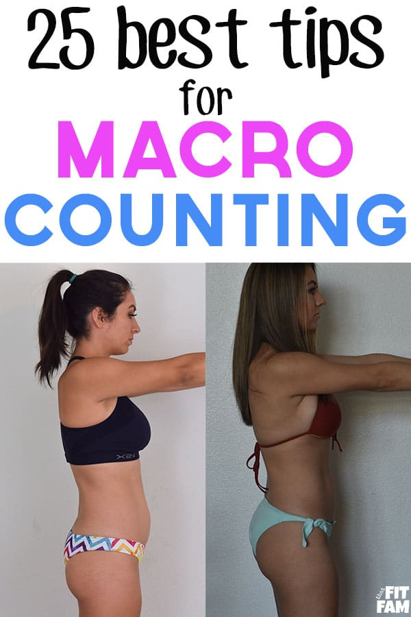 before and after counting macros, flexible dieting progress pic