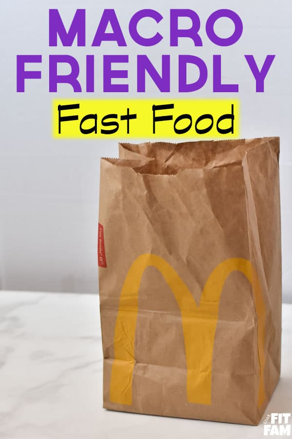 McDonalds bag with text