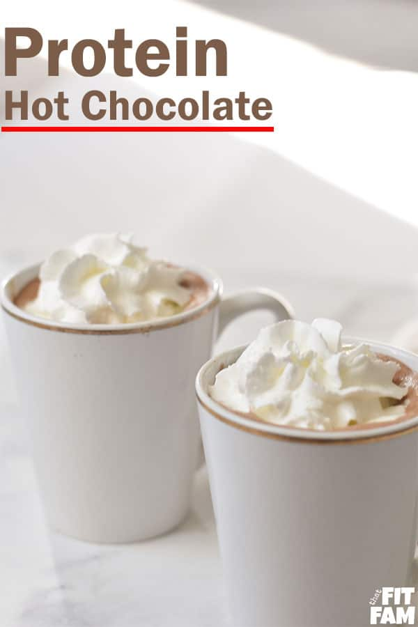 protein hot cocoa with whipped cream