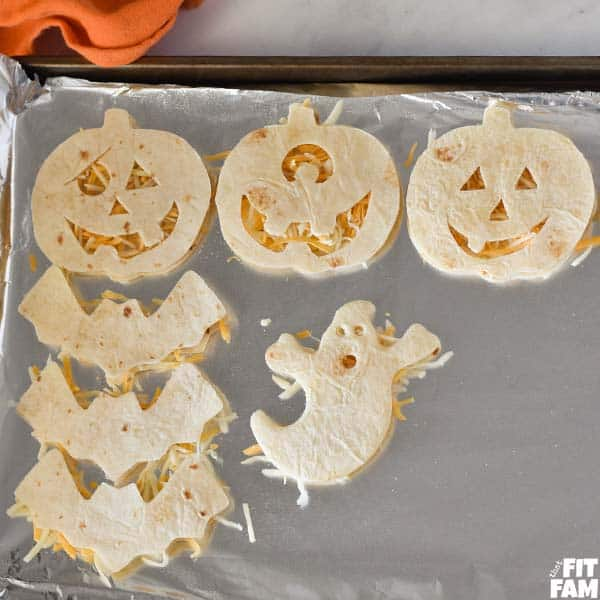 Halloween shaped quesadillas