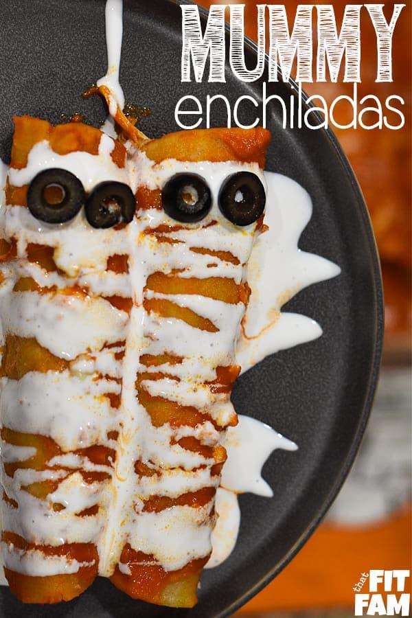 mummy chicken enchiladas