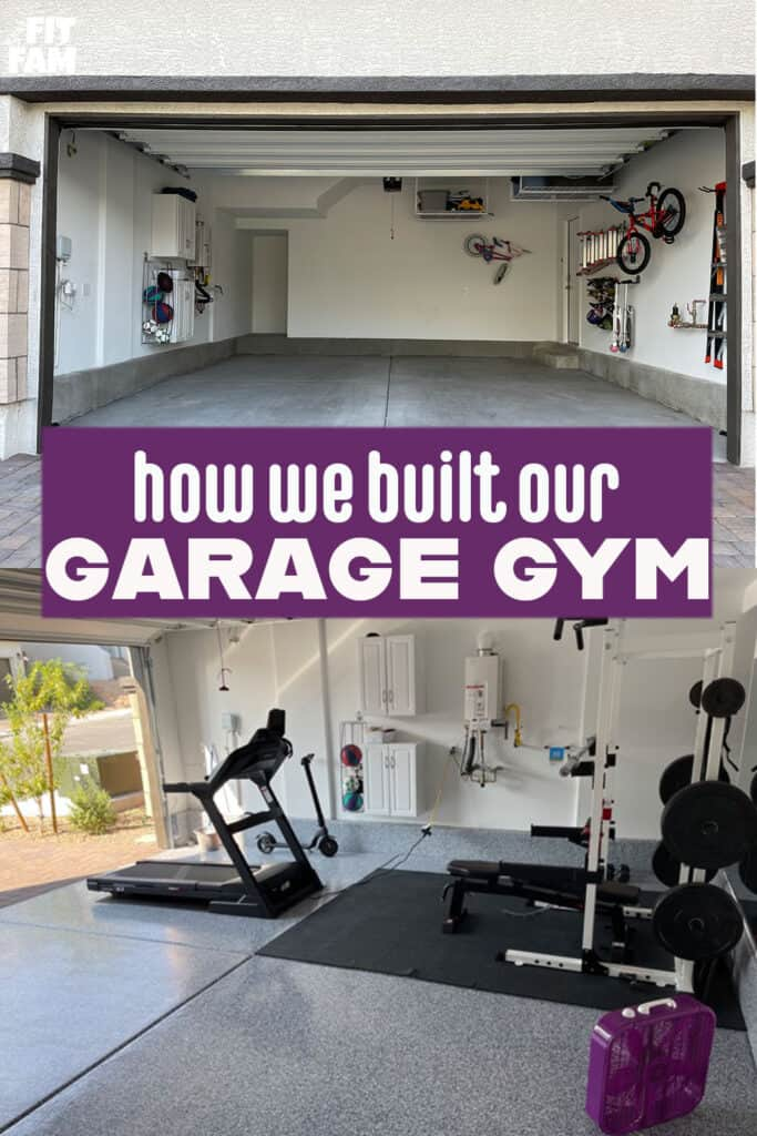 garage gym before and after