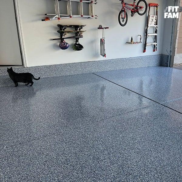 garage blue epoxy floors
