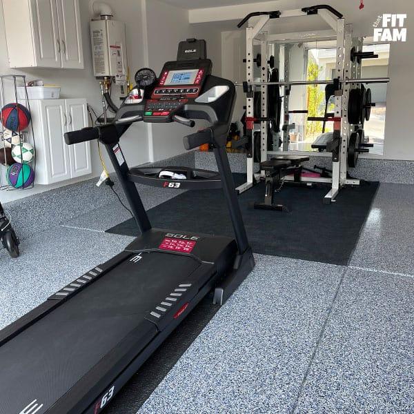 garage gym squat rack and sole f63 treadmill